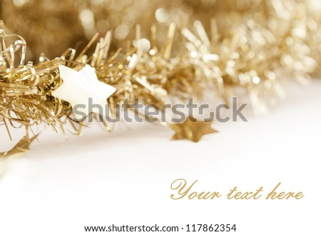 Christmas decoration background - stock photo