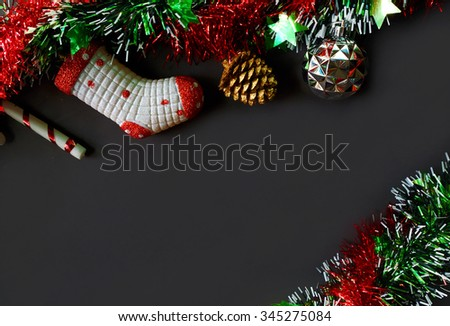 Christmas Decoration Background - Copy Space, From Above