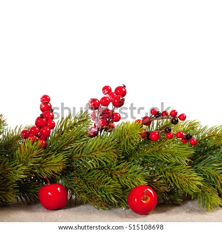 Christmas decoration background with copy space
