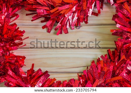 Christmas decoration background with space use for text or image - stock photo