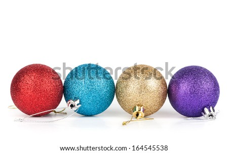 christmas decoration ball on a white background