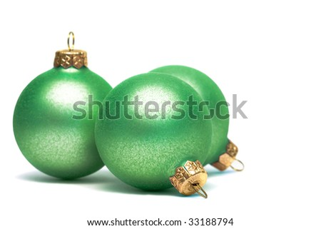 Christmas decoration balls isolated on white - stock photo