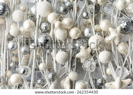 Christmas decoration baubles - stock photo