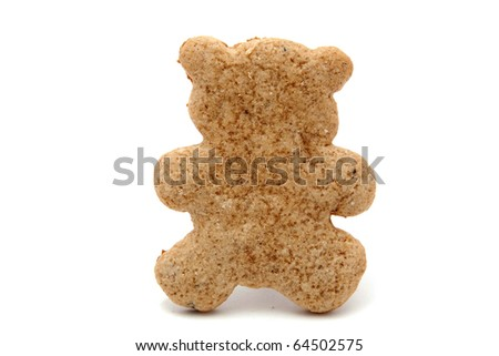 christmas decoration: bear shaped gingerbread