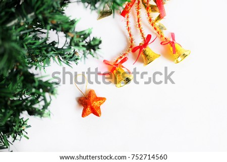 Christmas Decoration Border design isolated on white background with copy space