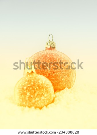 christmas decoration, christmas baubles - stock photo