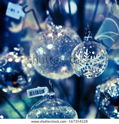 christmas decoration for sale - stock photo