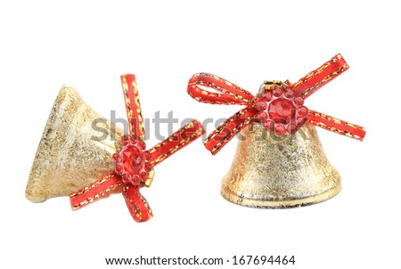 Christmas decoration for tree. Isolated on a white background. - stock photo