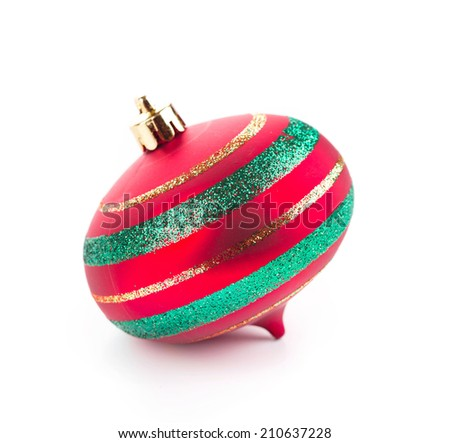 Christmas decoration for tree. Isolated on a white background.