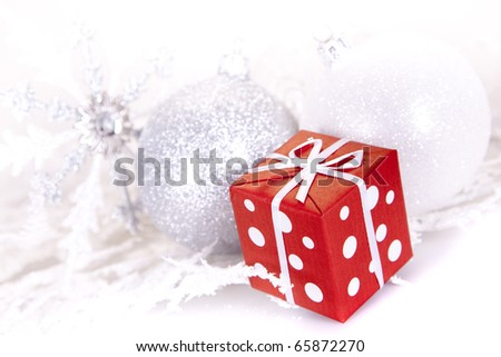 Christmas decoration, gift and baubles