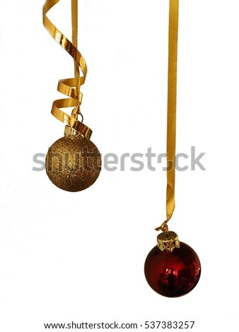 Christmas decoration golden and red balls