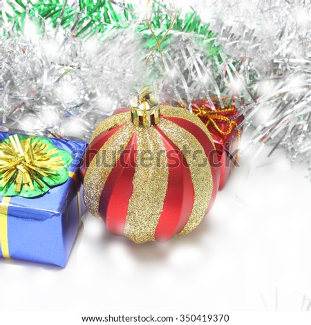 Christmas Decoration. Holiday Decorations ; Christmas ball - stock photo