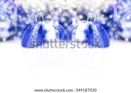 Christmas Decoration. Holiday Decorations on bokeh Background; Christmas ball - stock photo