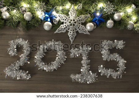 Christmas decoration in wood Background for hollidays uses