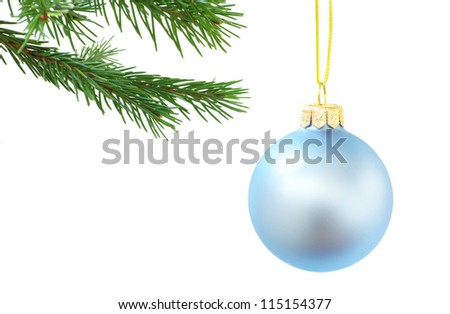 Christmas decoration isolated on the white background