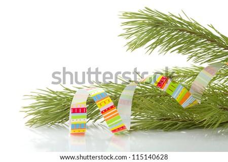 Christmas decoration. Isolated on white background - stock photo