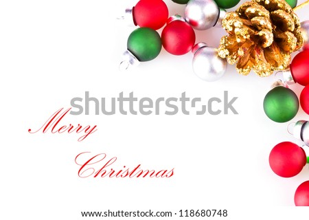 Christmas decoration isolated on white background