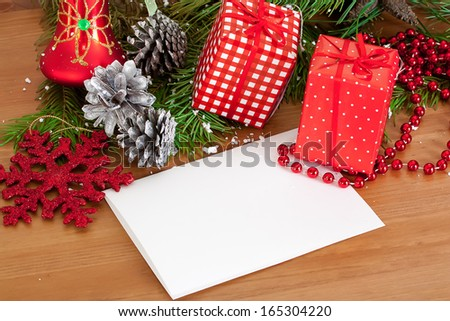 Christmas decoration on a wood background
