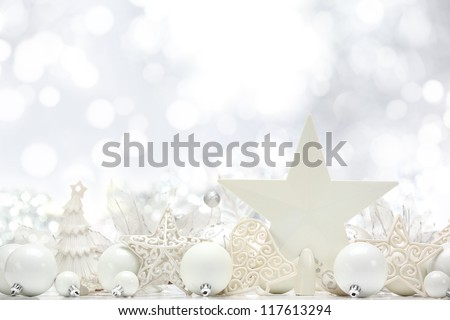 Christmas decoration on abstract background. - stock photo