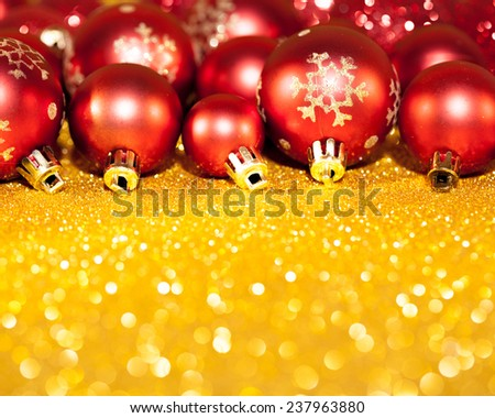 Christmas decoration on abstract background. Studio shot - stock photo