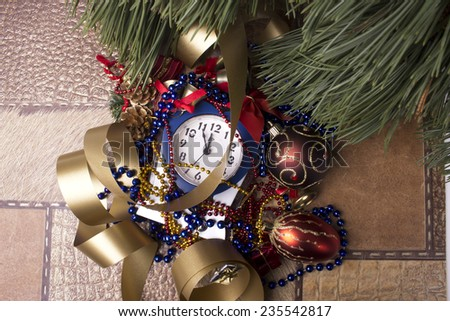 Christmas decoration on background