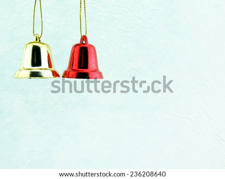Christmas decoration on mulberry paper for Christmas background - stock photo