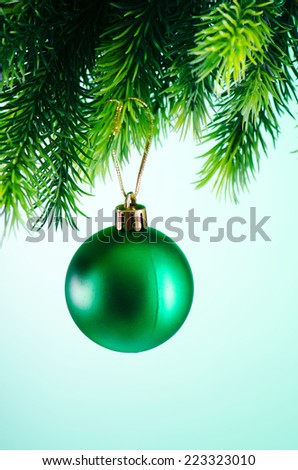 Christmas decoration on the fir tree