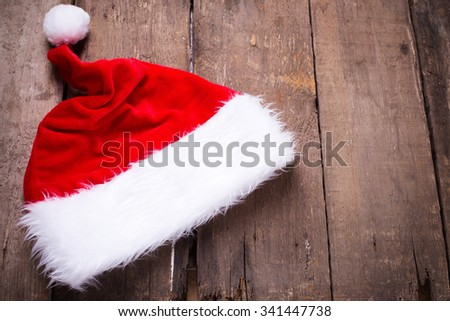 Christmas decoration on  vintage  wooden background. Christmas background. Selective focus. Place for text.