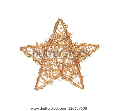 christmas decoration on white - stock photo