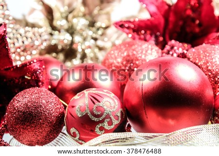 Christmas   decoration  on white background. Holiday composition. Festive background. Blank for postcards, business cards,  greeting or invitation cards. - stock photo