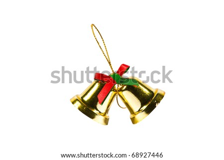 Christmas Decoration photo on the white background