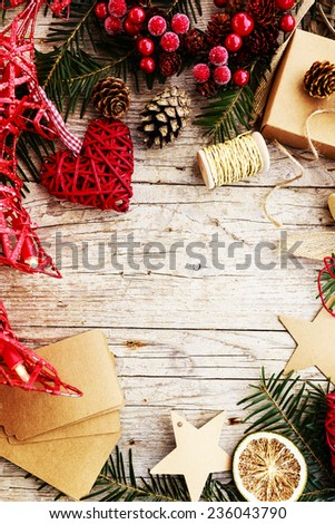 Christmas decoration, space for text - stock photo
