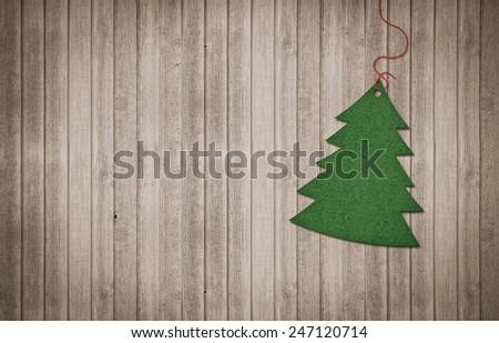Christmas decoration with a christmas tree - stock photo