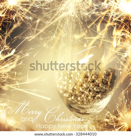 Christmas decoration with candles - stock photo