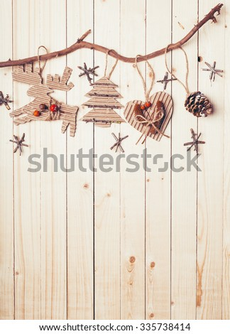 Christmas decoration with copy space - stock photo