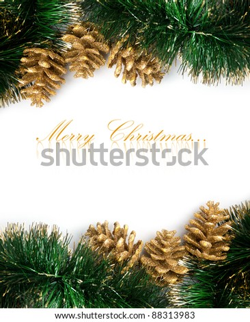 Christmas decoration with festive garland - stock photo