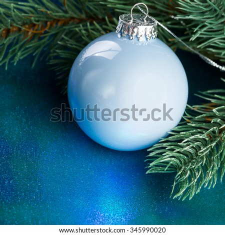 Christmas decoration with fir-tree  - stock photo