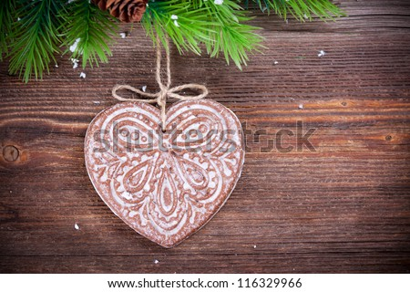 Christmas decoration  with gingerbread
