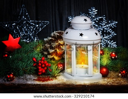 Christmas decoration with lantern