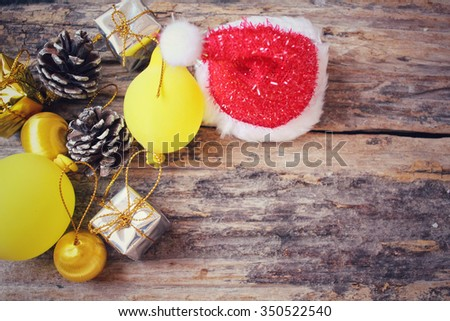 Christmas decoration with pine cone