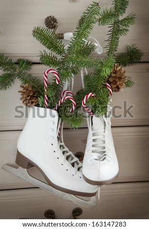 Christmas decoration with skates