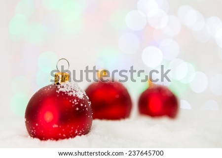Christmas decoration with snow - stock photo