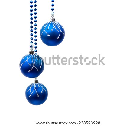 Christmas decoration with space for text on white background - stock photo