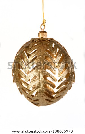 Christmas Decorations, ball on white backgrounds - stock photo