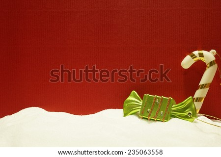 Christmas decorations for Christmas background - stock photo