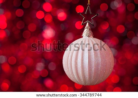 christmas decorations in red tones - stock photo