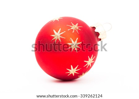 Christmas decorations isolated - stock photo