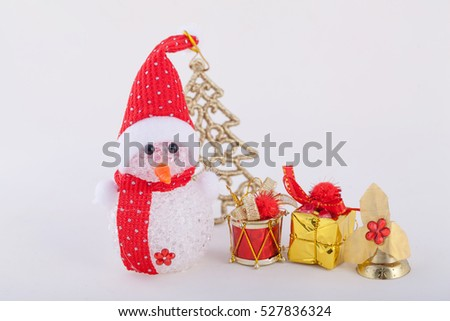 Christmas decorations on background.