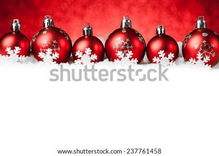 Christmas decorations on sparkling background. studio shot - stock photo