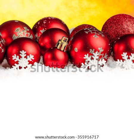 Christmas decorations on sparkling background. studio shot
